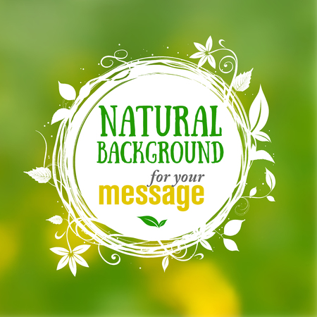 borders plants: Natural floral background with place for your text - vector illustration Illustration