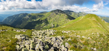 Grassy ridge of amazing summer mountains - Western Tatras, Slovakia, Europe