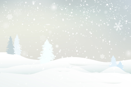 Abstract winter landscape Illustration
