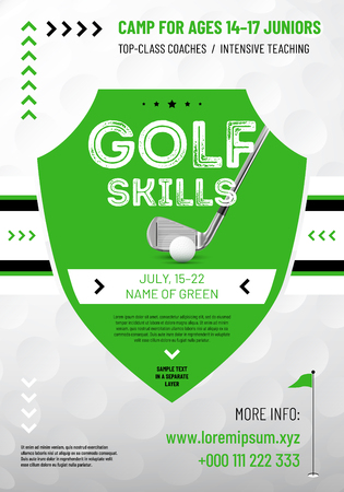 Background or template for your golf design with sample text in separate layer- vector illustration
