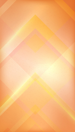 Abstract orange geometric retro background with decent grungy structure for your design - vector illustration