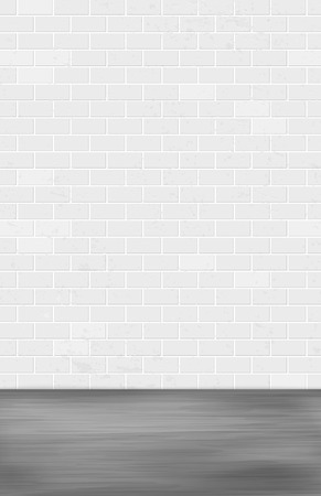 Gray brick wall and dark ground - grungy background for your design. Vector illustration.