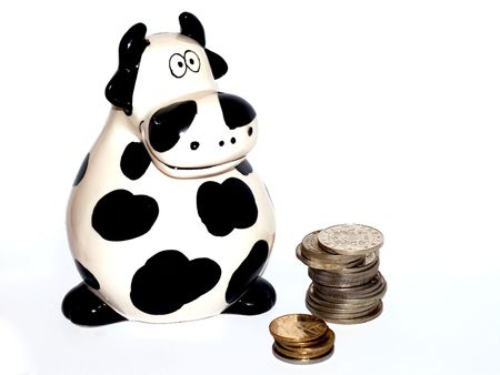 stockbroker: Cow and coins