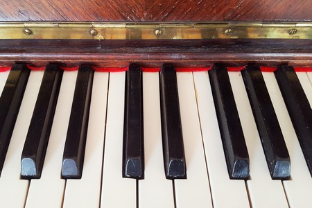 old piano: Keys of an old piano accoutic