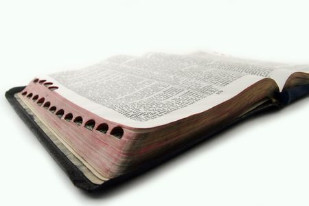 holy bible at the white background photo