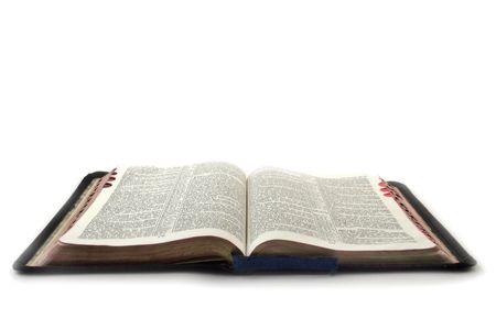 bible book: holy bible at the white background Stock Photo