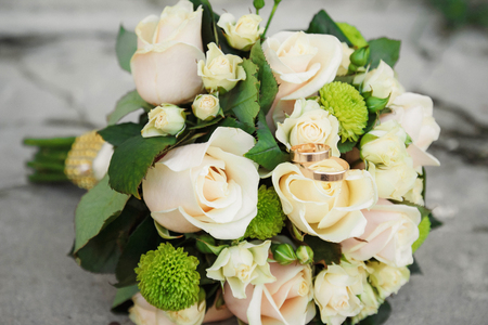 arm bouquet: Beautiful wedding bouquet of roses, for bride