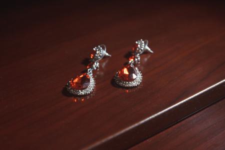 Beautiful, wedding jewelry with diamonds for women