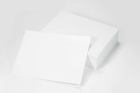 large group of business people: Stack White Paper Stock Photo