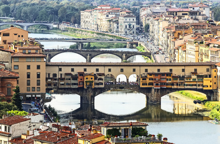 Fameous bridge in Florence, Italy  photo