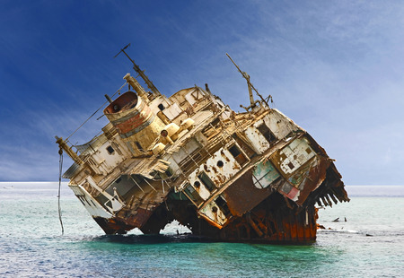 Shipwreck in Red Sea  photo