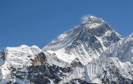 Mount Everest, Himalayan Range, Nepal  photo