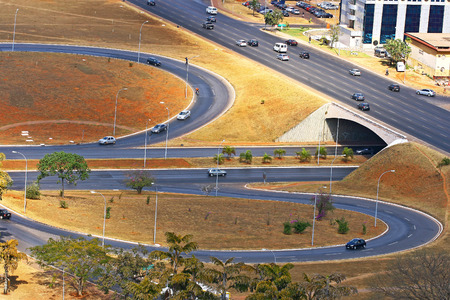 zoning: Model of modern urban planning and zoning, Brasilia, Brazil  Stock Photo