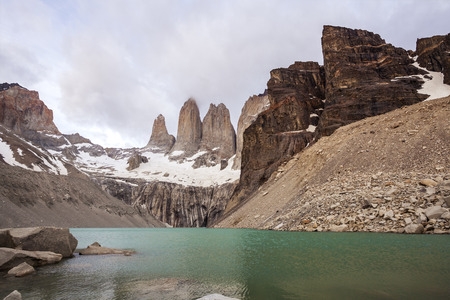 torres del paine: National Park Torres del Paine in southern Chile, Patagonia
