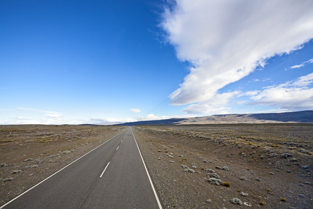 Endless empty country highway, Ruta 40  National Route 40 or RN40  in Argentina, South America Stock Photo - 27167614
