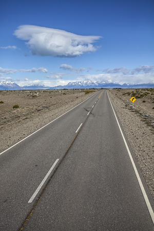 Endless empty country highway, Ruta 40  National Route 40 or RN40  in Argentina, South America   Stock Photo - 27167615