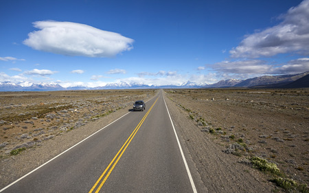 ruta: Endless empty country highway, Ruta 40  National Route 40 or RN40  in Argentina, South America
