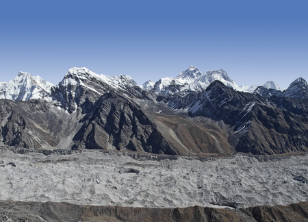 Khumbu glacier in Sagarmatha National Park, Himalayas, Nepal  photo
