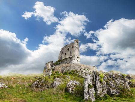 mirow: Ruins of medieval castle Mirow, Poland  Stock Photo