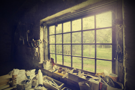 old items: Window in carpenter