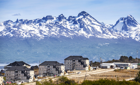 ウシュアイア、アルゼンチン上の山 写真素材