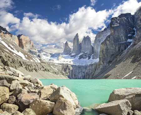 torres:  Torres del Paine mountains, Patagonia, Chile Stock Photo