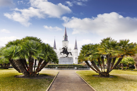 jackson: Jackson Square in French Quarter of New Orleans, USA