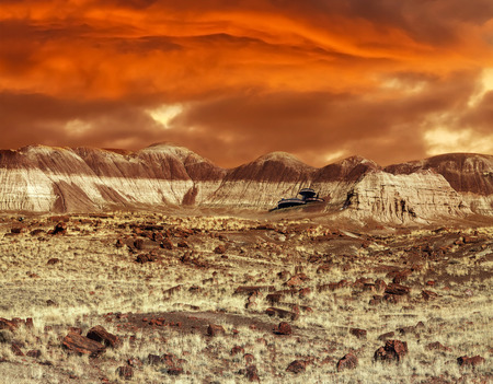 martian: Base on Mars  Abstract natural design looking like martian surface