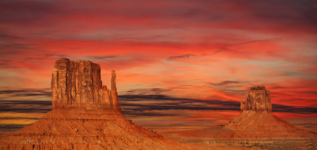 Monument Valley at sunset, Utah, USA