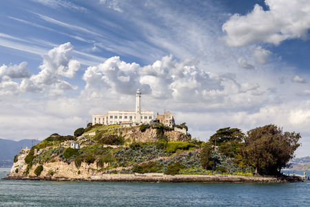 island: Alcatraz Island in San Francisco, USA.