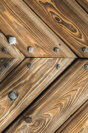 Wooden background, old gate of a castle, Poland. photo