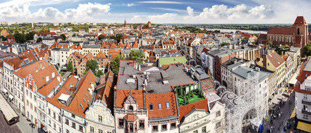 torun: High resolution panorama of Torun, Poland.