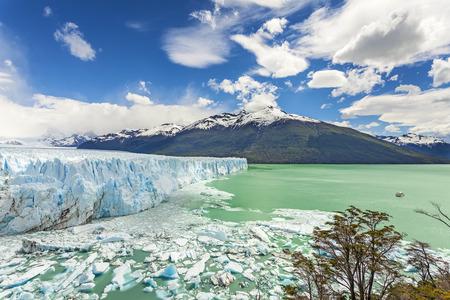 glaciares: Perito Moreno Glacier in the Los Glaciares National Park, Argentina. Stock Photo