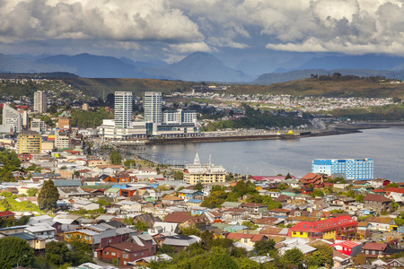 Panoramic view of Puerto Montt in Chile.