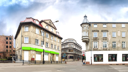 aleksander: Panoramic view Bialogard city centre, Poland. Bialogard is a place of birth of Aleksander Kwasniewski, the President of Poland from 1995 to 2005.