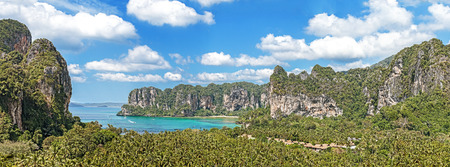 Panoramic view of Railay beach in Krabi, Thailand. photo
