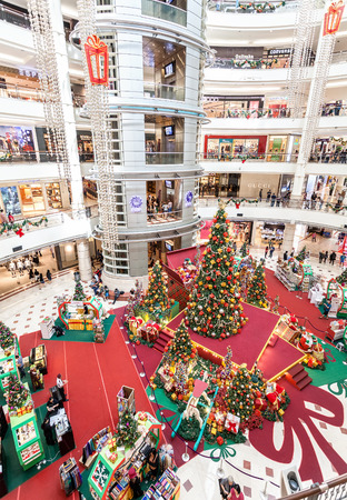 Kuala Lumpur, Malaysia - December 27, 2014: Christmas time in Suria KLCC, Malaysias premier shopping mall with 6 levels of retail outlets and more than 320 stores.