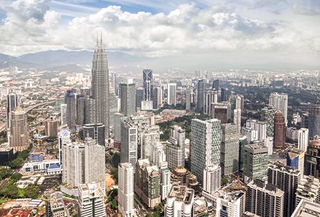 マレーシア、クアラルンプールのスカイライン。