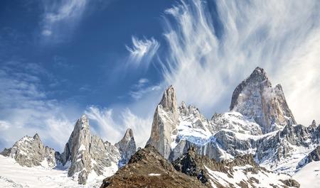 fitz roy: Fitz Roy Mountain Range in Patagonia, Argentina
