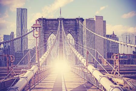 brooklyn bridge: Vintage filtered picture of Brooklyn Bridge in New York City.