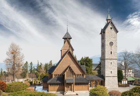 wang: Templo de madera vieja Wang en Karpacz, Polonia.