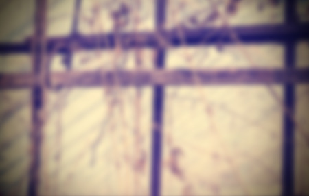 grating: Retro filtered blurred abstract background, grungy glasshouse grating.