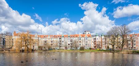 neighbourhood: Panoramic view of Szczecin, Niebuszewo Bolinko municipal neighbourhood, Poland.