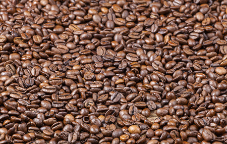 robusta: Natural background made of coffee beans. Stock Photo