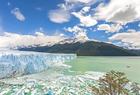 perito: Perito Moreno Glacier in Argentina. Stock Photo