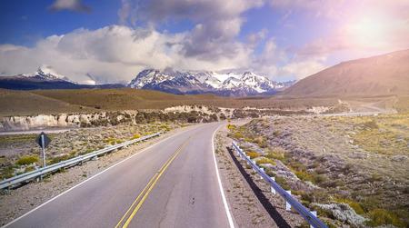 chalten: Road to El Chalten village, Argentina.