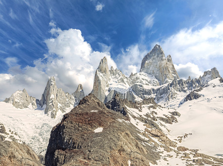 fitz: Fitz Roy Mountain Range in Patagonia, Argentina