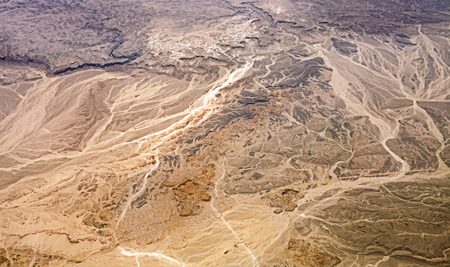geography map: Aerial view of desert, nature background or texture, Egypt.