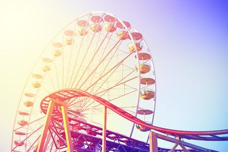 Jahrgang getönten Bild von einem Freizeitpark. Standard-Bild - 42918830