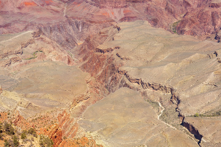 south rim: Bottom of Grand Canyon, South Rim, Arizona in USA.